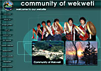 image of home web page of the community of Wekweti - CLICK TO DECHI LAOT I WEB SITE