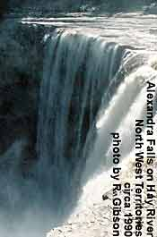 Alexander Falls, larger water fall on Hay River in Norh West Territories in Canada's Arctic CLICK FOR ENLARGMENT
